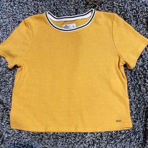 Yellow Hollister crop top